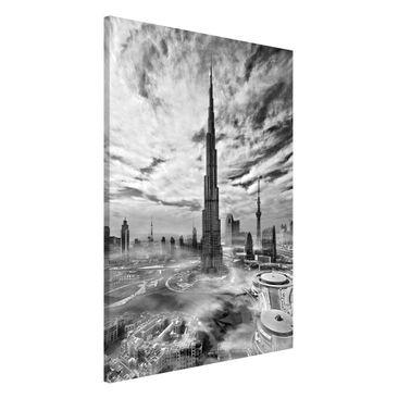 Immagine del prodotto Lavagna magnetica - Dubai Super Skyline - Formato verticale 2:3