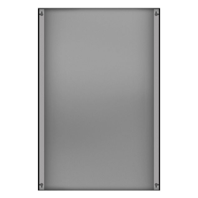 Produktfoto Magnettafel - Dunkle Zebra Silhouette - Memoboard Hochformat 3:2