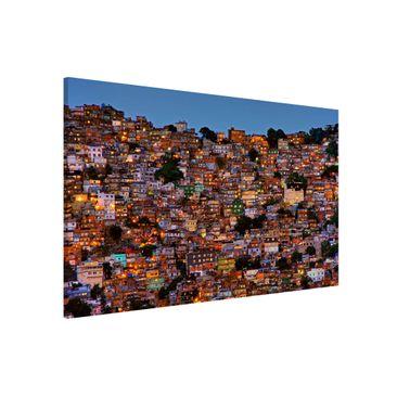 Produktfoto Magnettafel - Rio de Janeiro Favela Sonnenuntergang - Memoboard Querformat 2:3