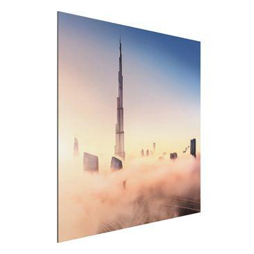 Immagine del prodotto Stampa su alluminio - Heavenly skyline di Dubai - Quadrato 1:1