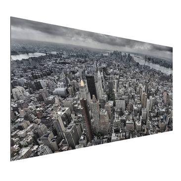 Produktfoto Aluminium Print - Blick über Manhattan - Querformat 1:2