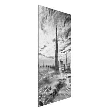 Immagine del prodotto Stampa su alluminio - Dubai Super Skyline - Verticale 2:1