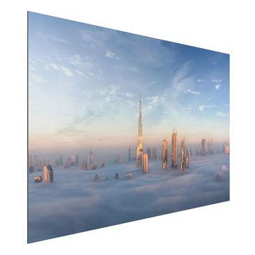 Immagine del prodotto Stampa su alluminio - Dubai Sopra Le Nuvole - Orizzontale 2:3