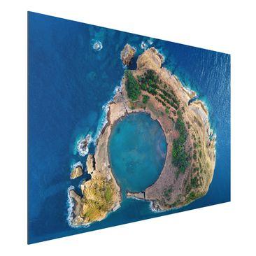 Produktfoto Aluminium Print - Luftbild - Die Insel Vila Franca do Campo - Querformat 2:3