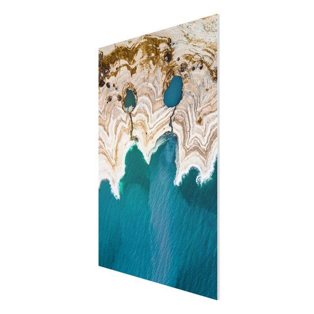 Produktfoto Forex Fine Art Print - Lagune in Israel - Hochformat 3:2