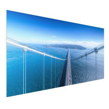Immagine del prodotto Stampa su Forex - Bridge to the Islanda - Orizzontale 1:2
