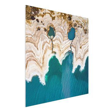 Produktfoto Forex Fine Art Print - Lagune in Israel - Quadrat 1:1
