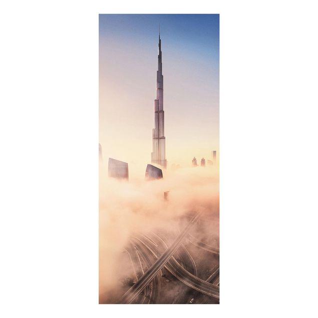 Produktfoto Forex Fine Art Print - Himmlische Skyline von Dubai - Panel