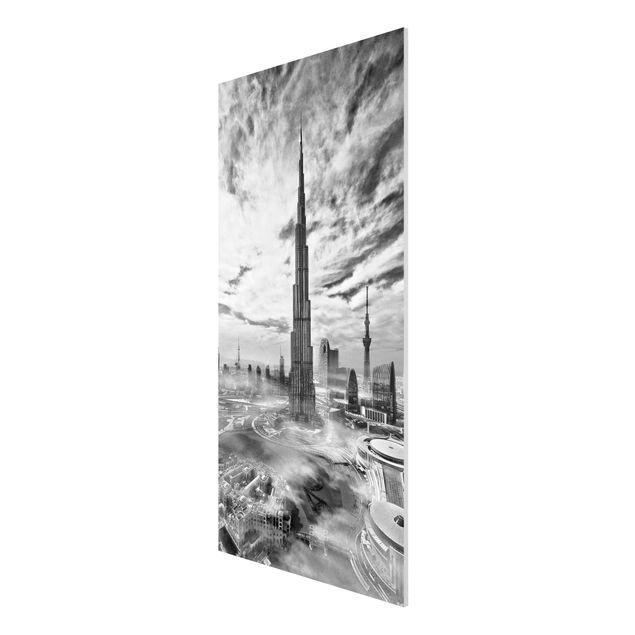 Produktfoto Forex Fine Art Print - Dubai Super Skyline - Hochformat 2:1