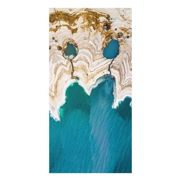 Produktfoto Forex Fine Art Print - Lagune in Israel - Hochformat 2:1