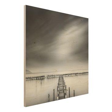 Produktfoto Holzbild - Der alte Pier - Quadrat 1:1