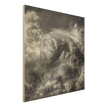 Produktfoto Holzbild - Ein Sturm zieht auf - Quadrat 1:1