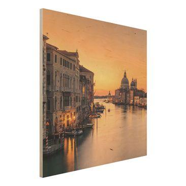 Immagine del prodotto Stampa su legno - d'oro Venezia - Quadrato 1:1
