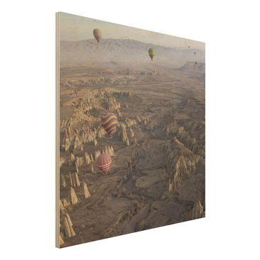 Immagine del prodotto Stampa su legno - Hot Air Balloons Over Anatolia - Quadrato 1:1
