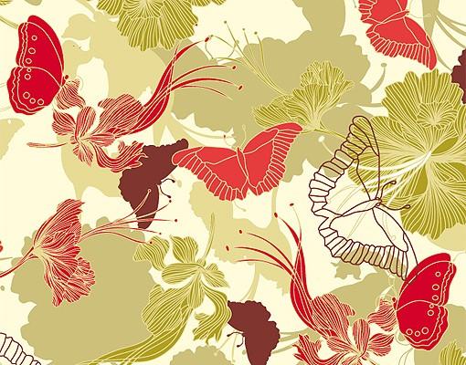 Produktfoto Selbstklebendes Wandbild Asiatischer Morgen Triptychon I