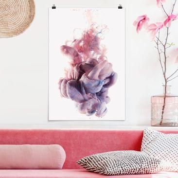 Produktfoto Poster - Abstrakte flüssige Farbverläufe - Hochformat 3-2 vergrößerte Ansicht in Wohnambiente Artikelnummer 249656-XWA