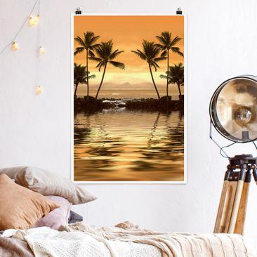 Produktfoto Poster - Caribbean Sunset I - Hochformat 3-2 Material matt Artikelnummer 249668-CU