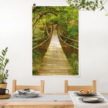 Produktfoto Poster - Dschungelbrücke - Hochformat 3-2 Material matt Artikelnummer 249689-CU