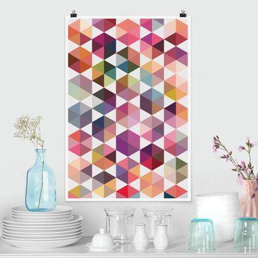 Immagine del prodotto Poster - Hexagon sfaccettature - Verticale 3:2