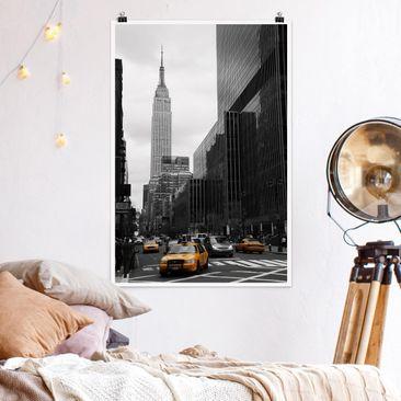 Produktfoto Poster - Klassisches NYC - Hochformat 3-2 Material matt Artikelnummer 249730-CU