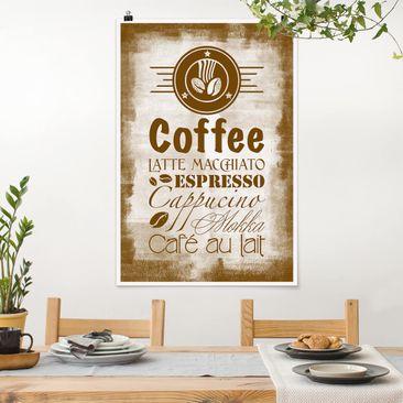 Produktfoto Poster - No.SF597 Coffee 4 - Hochformat 3-2 vergrößerte Ansicht in Wohnambiente Artikelnummer 249768-XWA