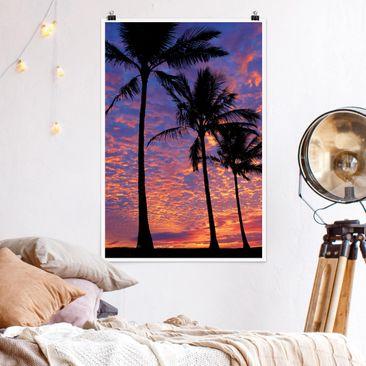 Produktfoto Poster - Palms - Hochformat 3-2 Material matt Artikelnummer 249775-CU