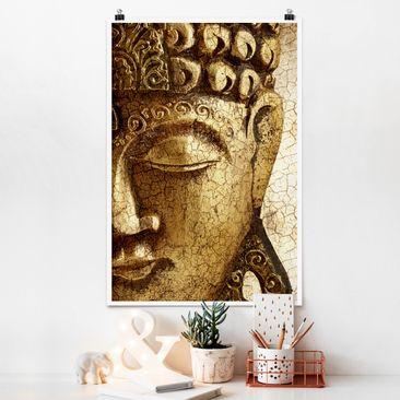 Produktfoto Poster - Vintage Buddha - Hochformat 3-2 vergrößerte Ansicht in Wohnambiente Artikelnummer 249812-XWA
