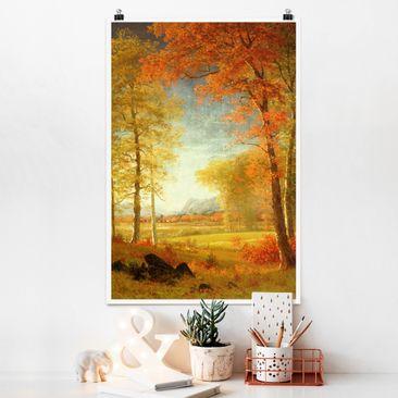 Produktfoto Poster - Albert Bierstadt - Herbst in Oneida County New York - Hochformat 3-2 Material matt Artikelnummer 249847-CU