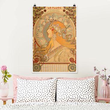 Produktfoto Poster - Alfons Mucha - Sternkreiszeichen - Hochformat 3-2 vergrößerte Ansicht in Wohnambiente Artikelnummer 249856-XWA
