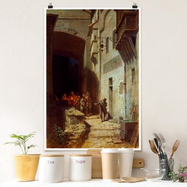 Produktfoto Poster - Carl Spitzweg - Die Scharwache - Hochformat 3-2 Material matt Artikelnummer 249876-CU