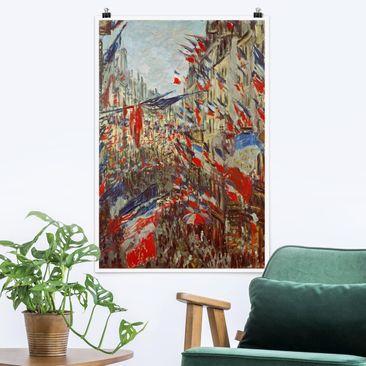 Produktfoto Poster - Claude Monet - Straße im Flaggenschmuck - Hochformat 3-2 Material matt Artikelnummer 249878-CU