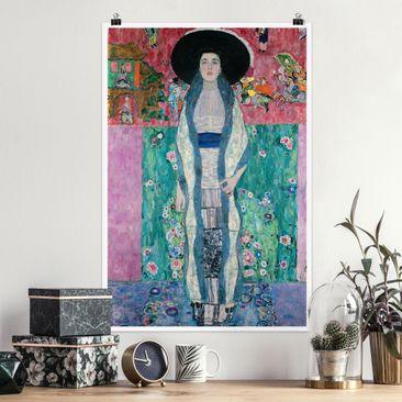 Produktfoto Poster - Gustav Klimt - Adele Bloch-Bauer II - Hochformat 3-2 vergrößerte Ansicht in Wohnambiente Artikelnummer 249895-XWA
