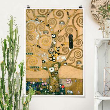 Produktfoto Poster - Gustav Klimt - Der Lebensbaum - Hochformat 3-2 vergrößerte Ansicht in Wohnambiente Artikelnummer 249897-XWA