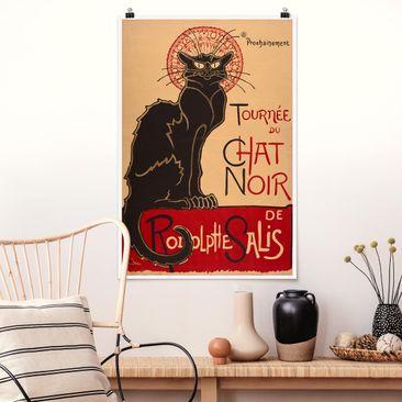 Produktfoto Poster - Théophile-Alexandre Steinlen - Der schwarze Kater - Hochformat 3-2 vergrößerte Ansicht in Wohnambiente Artikelnummer 249943-XWA