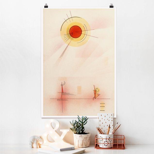 Produktfoto Poster - Wassily Kandinsky - Strahlen - Hochformat 3:2