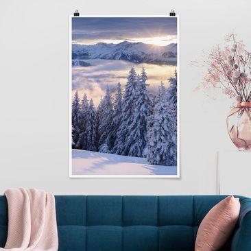 Produktfoto Poster - Blick in die Hohen Tauern vom Kreuzkogel Österreich - Hochformat 3-2 Material matt Artikelnummer 250009-CU