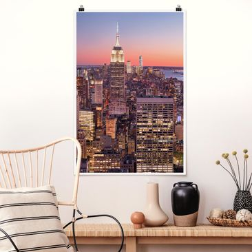 Product picture Poster - Sunset Manhattan New York City...
