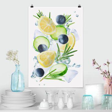 Immagine del prodotto Poster - Mirtilli Lemon Ice Splash - Verticale 3:2