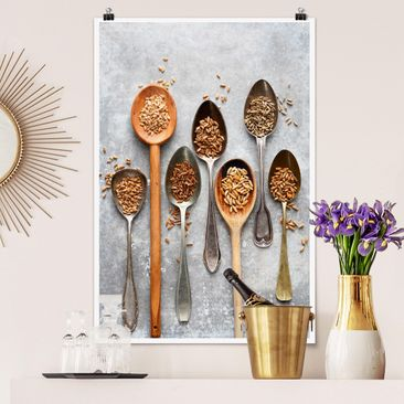 Product picture Poster - Cereal Grains Spoon - Portrait...