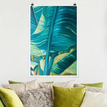 Immagine del prodotto Poster - Banana Leaf Con Turchese I - Verticale 3:2