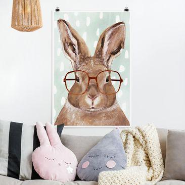 Immagine del prodotto Poster - Animali Occhialuto - Coniglio - Verticale 3:2