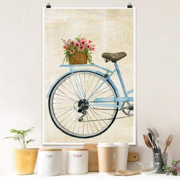 Produktfoto Poster - Blumenkurier II - Hochformat 3-2 vergrößerte Ansicht in Wohnambiente Artikelnummer 250078-XWA