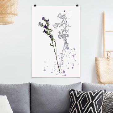 Immagine del prodotto Poster - Acquerello Botanico - Bellflower - Verticale 3:2