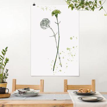 Immagine del prodotto Poster - Acquerello Botanico - Carnation - Verticale 3:2
