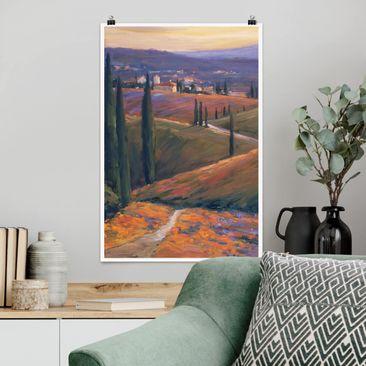 Produktfoto Poster - Landschaft am Nachmittag I - Hochformat 3-2 Material matt Artikelnummer 250263-CU