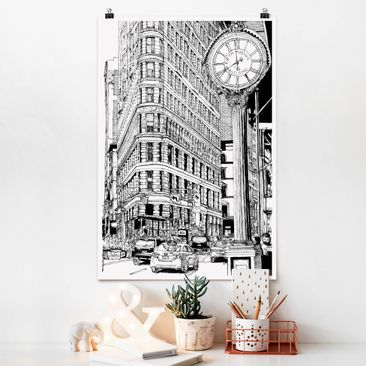 Immagine del prodotto Poster - Città Studi - Flatiron Building - Verticale 3:2