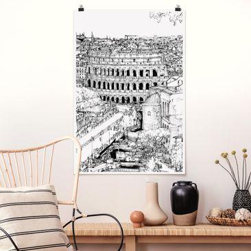 Immagine del prodotto Poster - Città Studi - Roma - Verticale 3:2