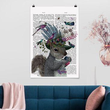 Immagine del prodotto Poster - Fowler - Scoiattolo con le ghiande - Verticale 3:2