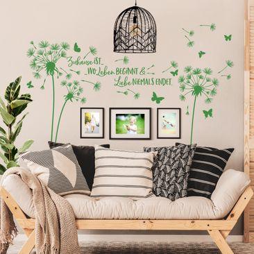 Produktfoto Wandtattoo - Pusteblume - Zuhause ist...