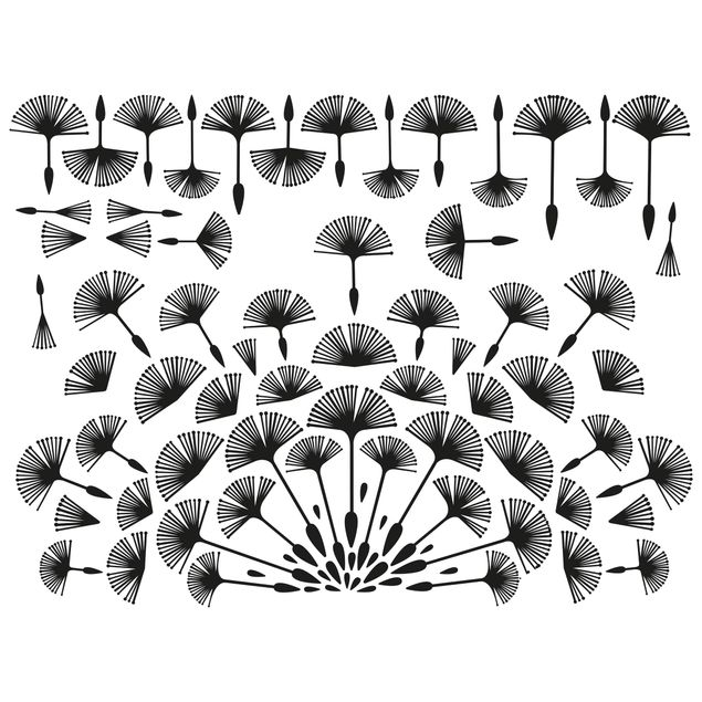Produktfoto Wandtattoo - Abstrakte moderne Pusteblume